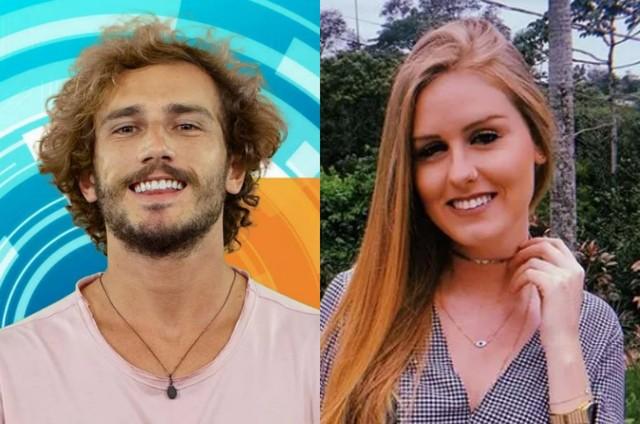 Alan, do 'BBB', e a ex-namorada, Verônica (Foto: Reprodução)