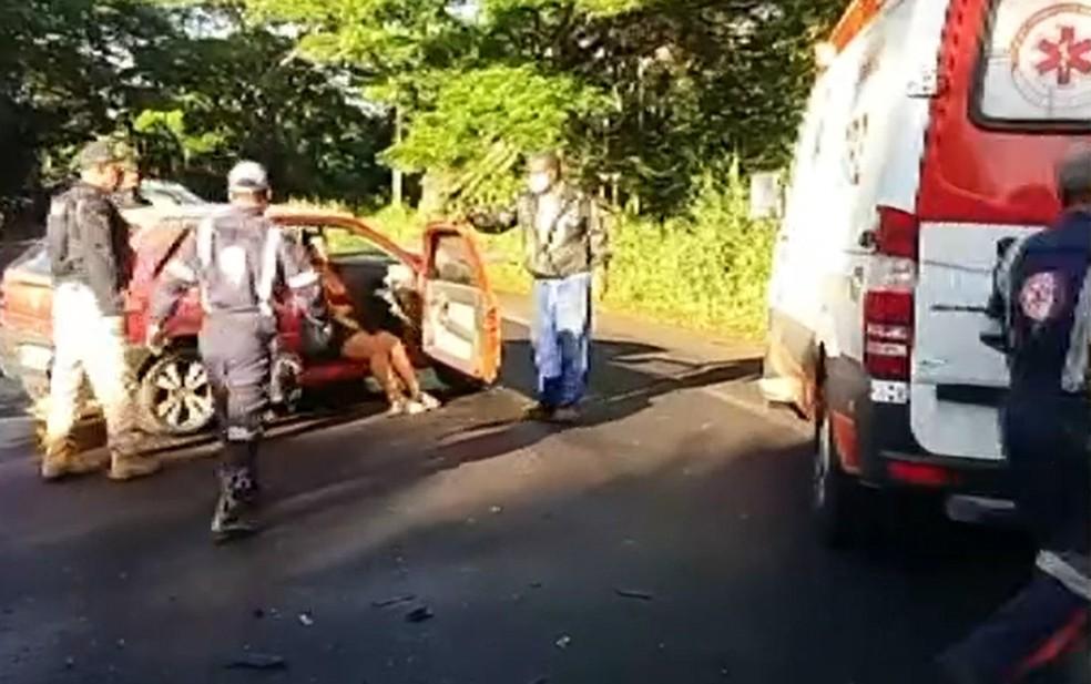 Batida ocorreu na manhã desta sexta-feira — Foto: Reprodução/TV Bahia