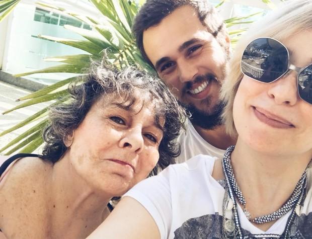 Debora Duarte, Bruno Ferrari e Paloma Duarte (Foto: Reprodução)