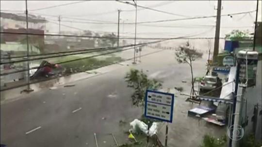 Tufão Damrey deixa 19 mortos no Vietnã
