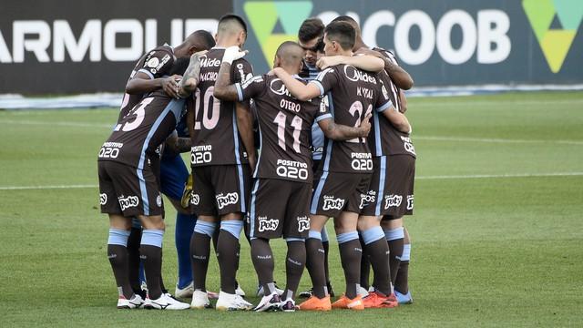 Time do Corinthians antes de jogo contra o Flamengo