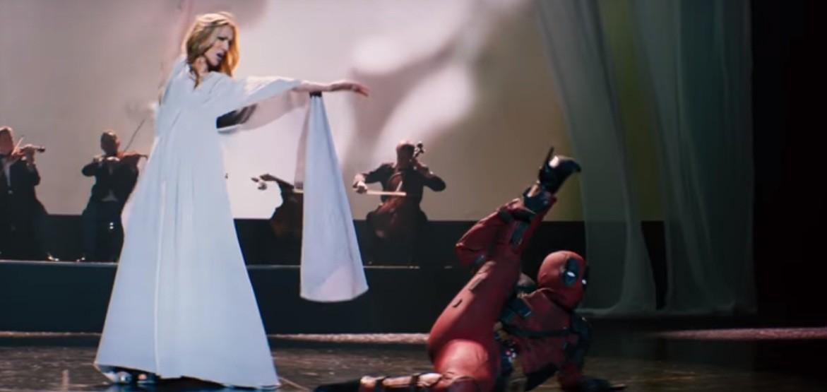 Céline Dion com Deadpool em novo clipe (Foto: Reprodução/Youtube)