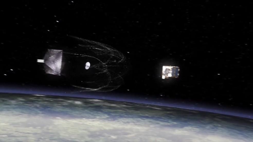 São cerca de 7,5 mil toneladas de lixo no espaço (Foto: BBC)