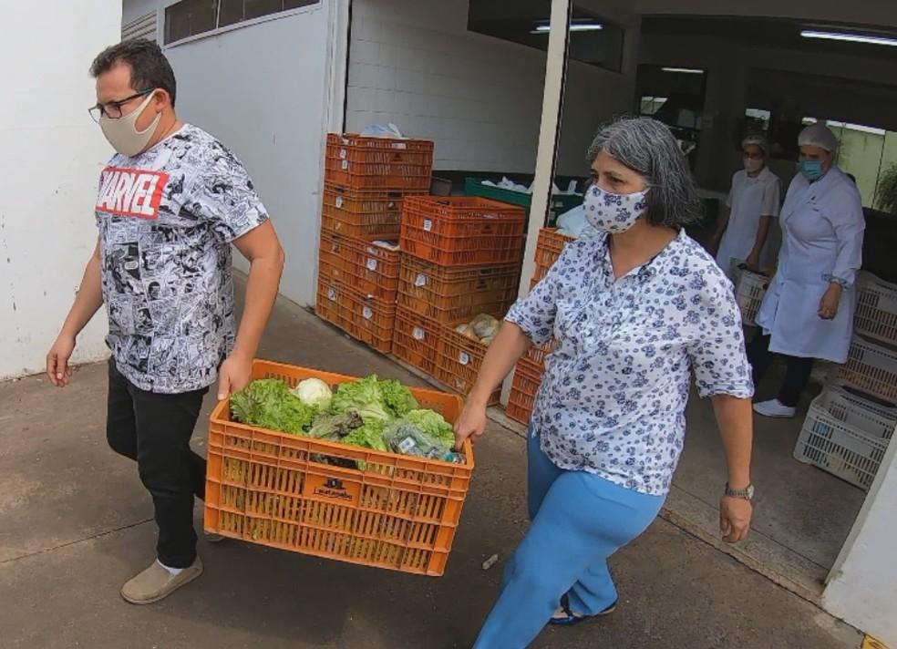 Projeto reduz desperdício de alimentos em Tatuí — Foto: Mike Adas/Tv Tem