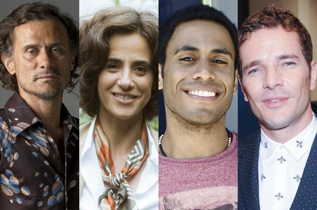 Enrique Diaz, Mariana Lima, Ícaro Silva e Daniel Oliveira (Foto: TV Globo)