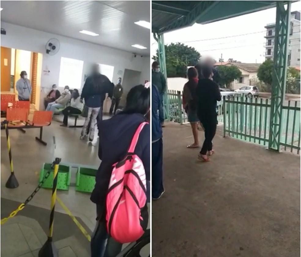 Homem se irrita com demora no atendimento em hospital de Boituva (SP) e arremessa cadeiras — Foto: Arquivo Pessoal