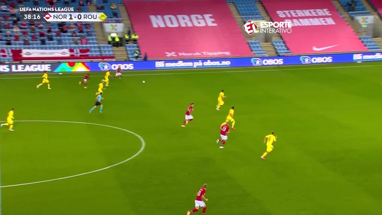 Noruega 4 x 0 Romênia: vitória com show de Haaland e Odegaard