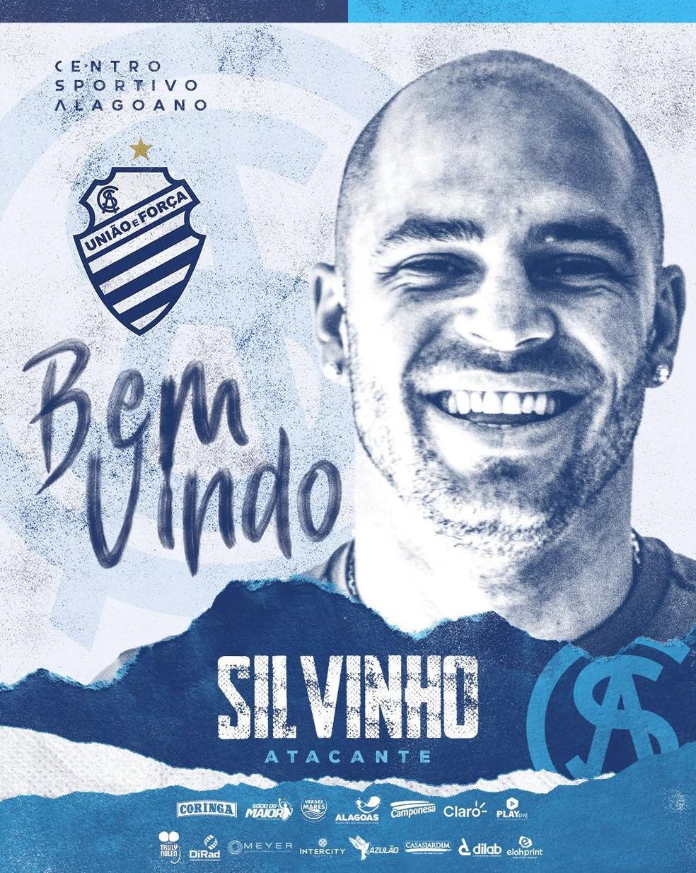 Silvinho vai defender o CSA em 2021 (Foto: Divulgação/Ascom CSA)
