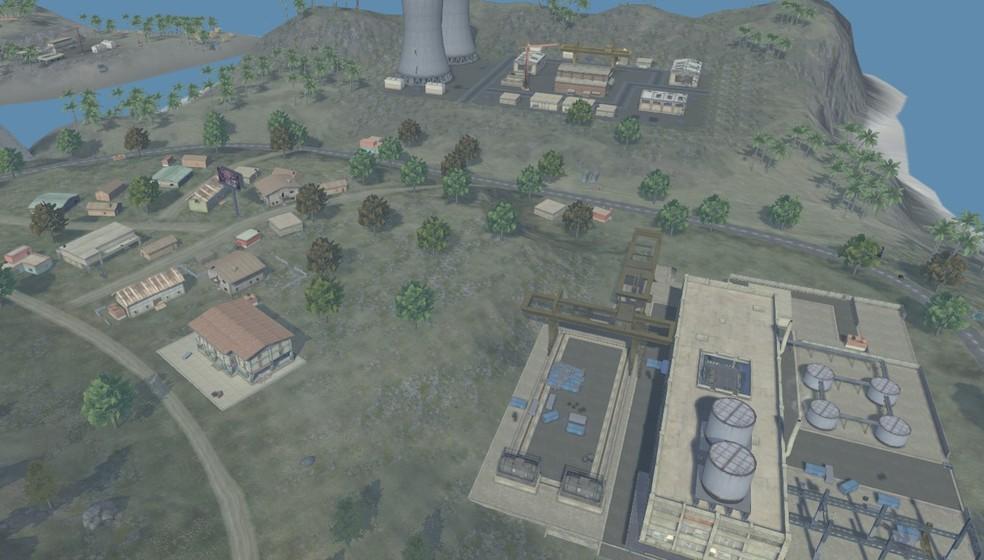 Pochinok, Factory e Mars Eletric formam um trio de cidades que são visadas devido a facilidade de rotação para o centro do mapa — Foto: Reprodução
