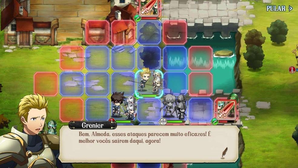 Langrisser Mobile pode ser opção interessante para quem curte combates no estilo grid-based — Foto: Reprodução/Cleiton Madruga