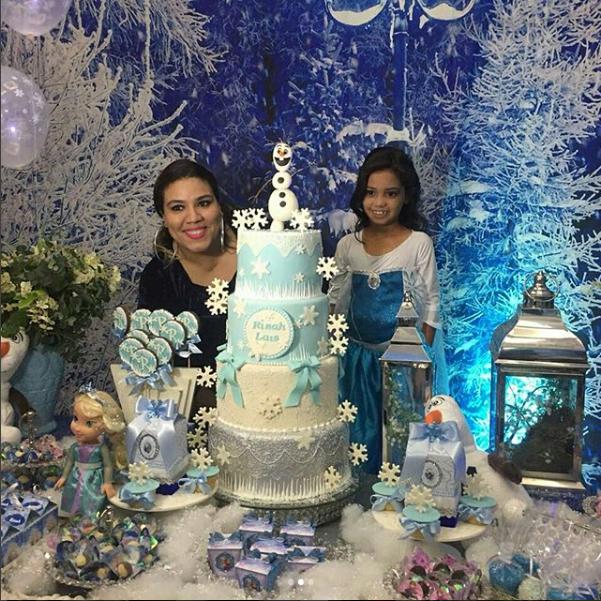 A decoradora Rafaela Call com Rinah Laís (Foto: Reprodução Instagram)