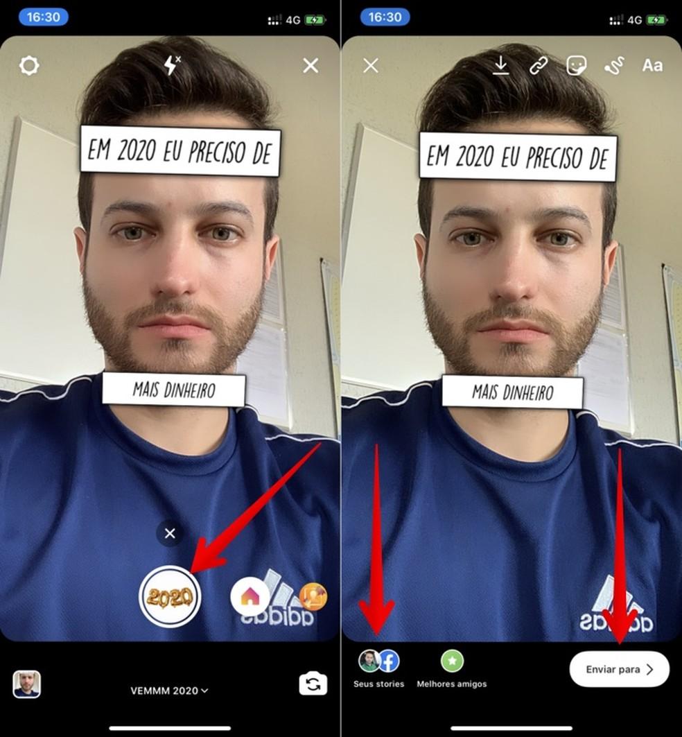 print 2019 12 09 16 37 03 swj3a - 'Em 2020 eu preciso de': como baixar e usar o filtro do Instagram