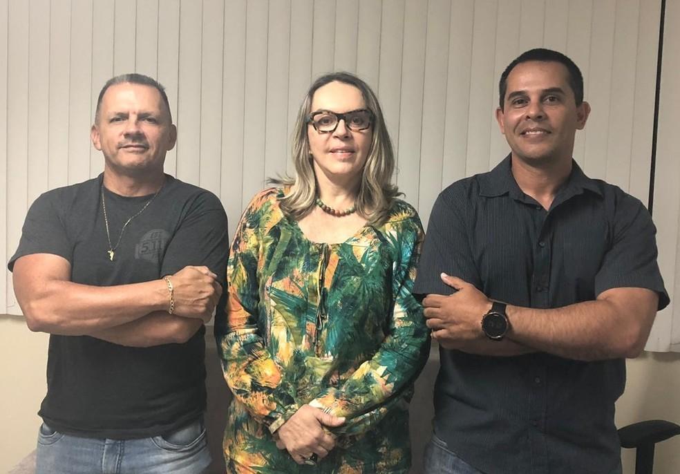 Mauro Albuquerque, Arméli Brennand e Maiquel Mendes — Foto: Divulgação