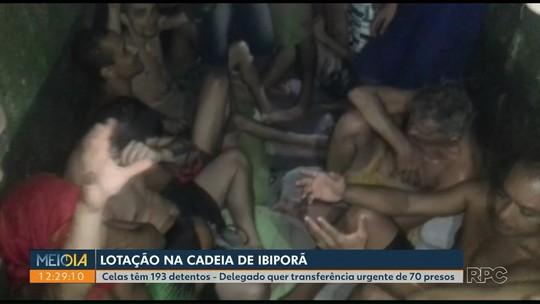 Presos fazem greve de fome para reclamar de superlotação, diz delegado de Ibiporã