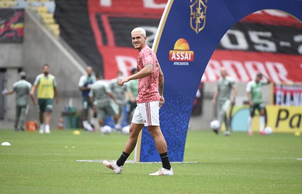 Pedro, atacante do Flamengo — Foto: André Durão / ge