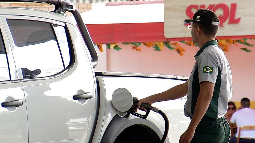 Abastecimento de combustíveis deve ser normalizado até a segunda-feira (4) nos postos de Natal, diz entidade (Foto: Flávio Muniz/Inter TV Cabugi)