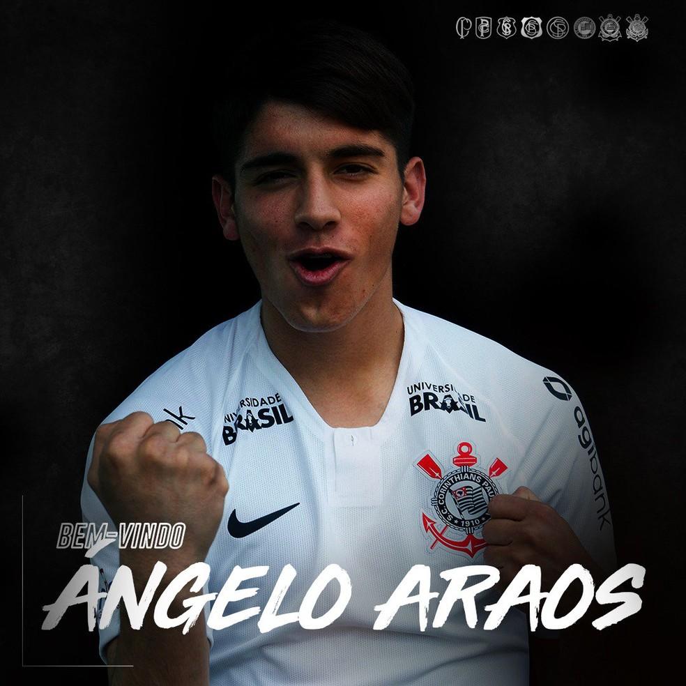 Corinthians anuncia contratação de Ángelo Araos — Foto: Divulgação