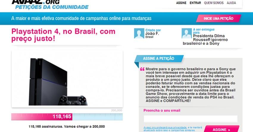 00f3c3a532f PS4  petição online contra preço do console reúne mais de 120 mil fãs