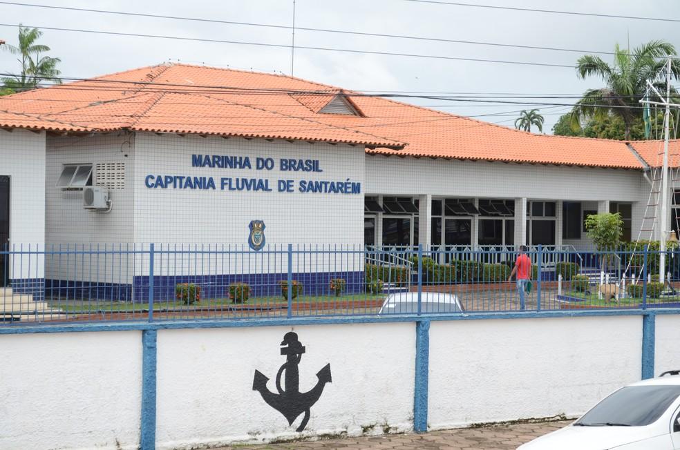 -  Sede da Capitania Fluvial de Santarém fica localizada na Av. Tapajós, 1937, bairro Aldeia  Foto: Adonias Silva/G1