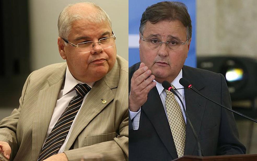 O ex-ministro Geddel Vieira Lima (direita) e o irmão dele, o deputado Lúcio Vieira Lima (MDB-BA) — Foto: Fabio Rodrigues Pozzebom e Valter Campanato/Agência Brasil