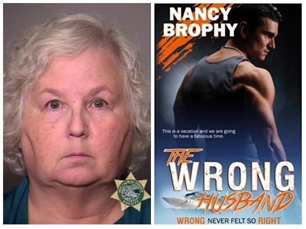 Nancy Crampton-Brophy e seu livro (Foto: Departamento da Polícia de Multnomah County )