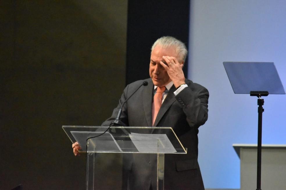 O presidente Michel Temer — Foto: Fernando Evans/G1
