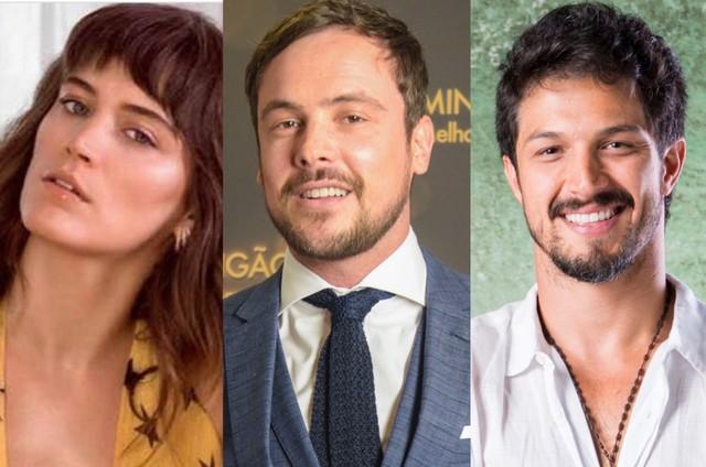 Bianca Bin, Sergio Guizé e Romulo Estrela (Foto: Reprodução/ Instagram - TV Globo)