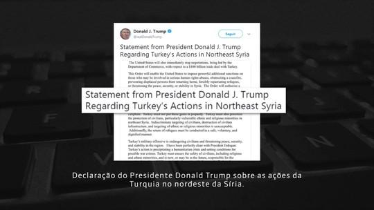 Trump anuncia que vai impor sanções contra Turquia em breve