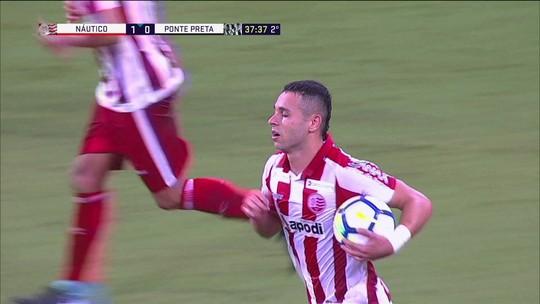 O gol de Náutico 1 x 0 Ponte Preta pela quarta fase da Copa do Brasil