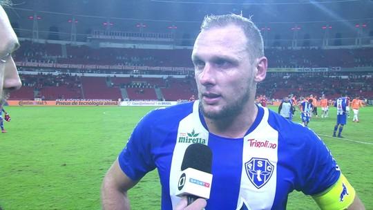 """Autor do gol do Paysandu, Micael comenta derrota: """"Sabia que ia ser um jogo difícil"""""""