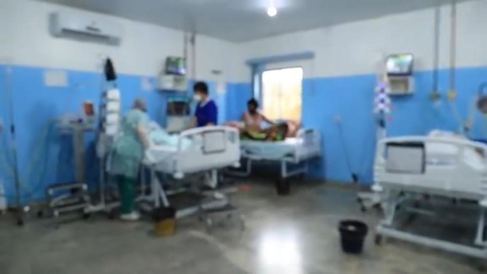 UTI em Porto Velho durante pandemia da Covid-19, em 2021 — Foto: Rede Amazônica/Reprodução