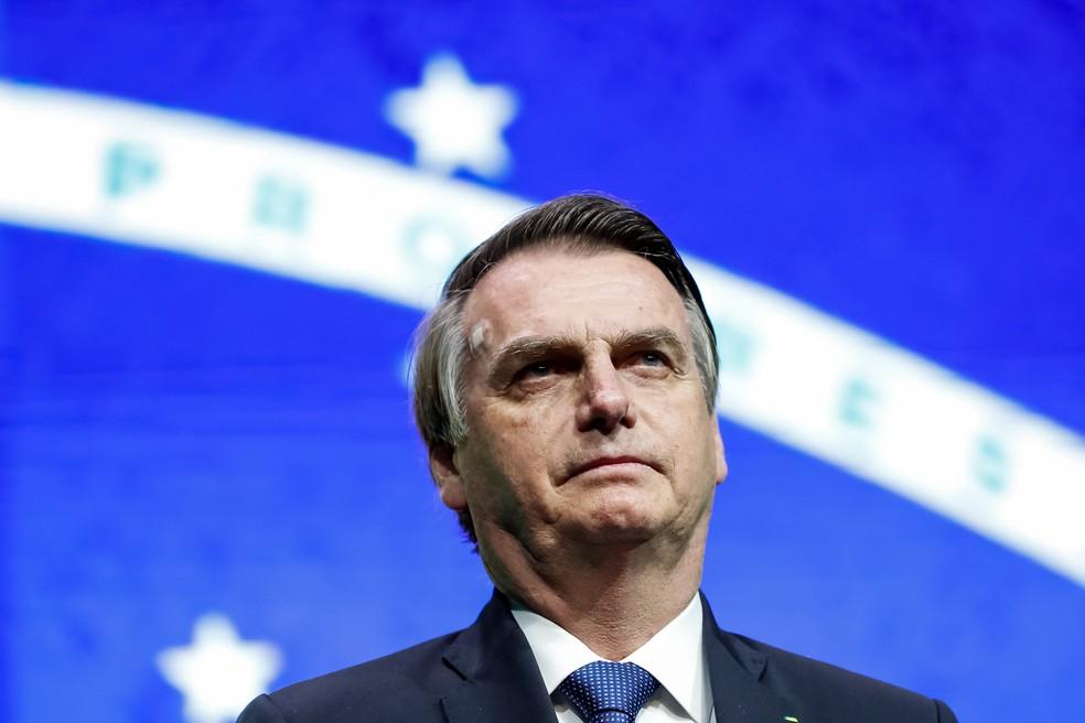 O presidente Jair Bolsonaro, ao participar de um evento em São Paulo, em junho â?? Foto: Alan Santos/PR