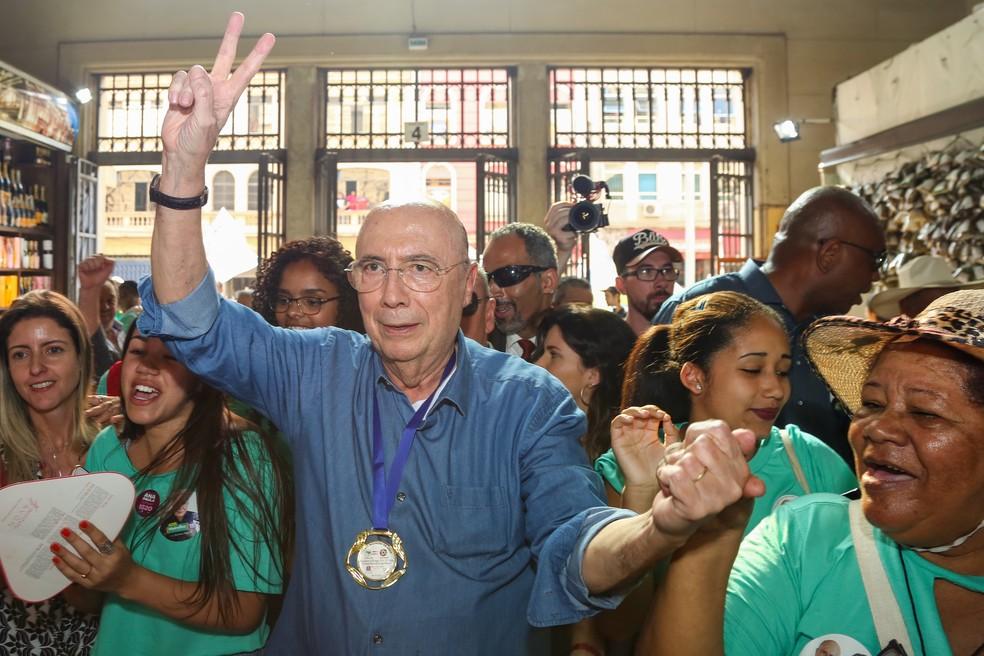 Henrique Meirelles, candidato a presidente — Foto: JALES VALQUER/FRAMEPHOTO/ESTADÃO CONTEÚDO