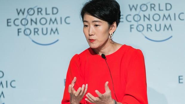 Yuhyun Park durante o Fórum Econômico (Foto: World Economic Forum / Benedikt von Loebell)