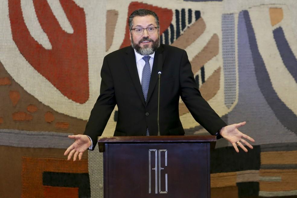 O ministro das Relações Exteriores, Ernesto Araújo — Foto: Fabio Pozzebom / Agência Brasil