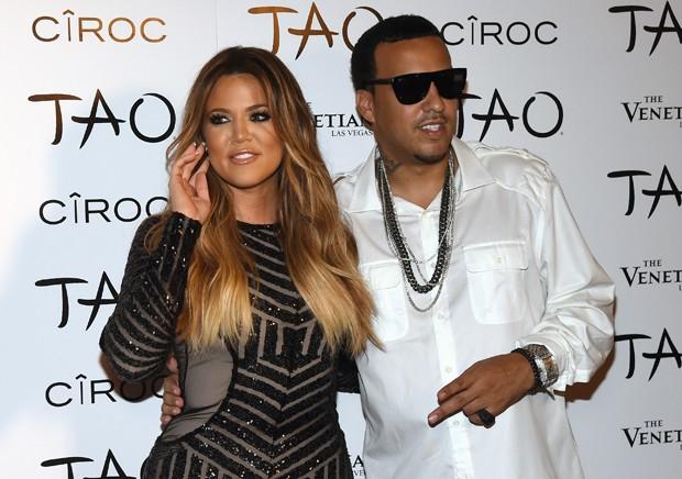 Kourtney Kardashian e French Montana, na época em que namoravam, em meados de 2014 (Foto: Getty Images)