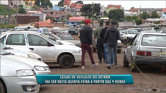Detran faz leilão de 438 veículos aptos para circulação, com lances mínimos de R$ 500 e R$ 1.700
