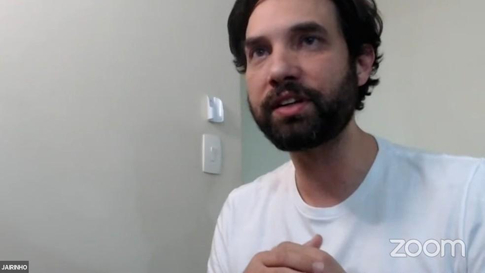 Dr Jairinho em sessão virtual da Câmara de Vereadores do Rio no ano passado — Foto: Reprodução