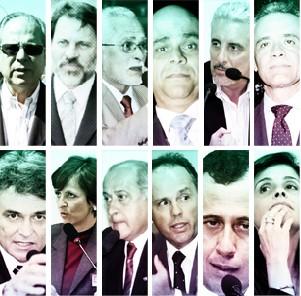 Condenados do mensalão com ordem de prisão (Foto: G1)