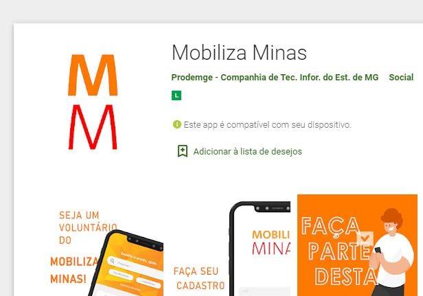 Governo de MG lança app 'Mobiliza Minas' para ações de voluntariado