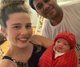 Debby Lagranha com o marido e o filho caçula | Arquivo pessoal