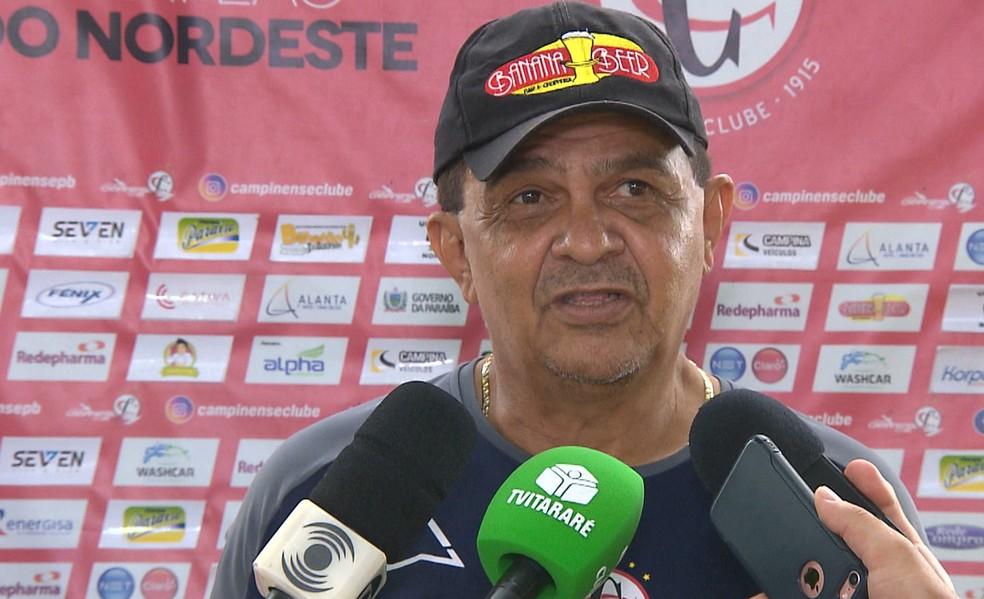 Apesar das lesões, o time de Francisco Diá é líder do Grupo B do estadual — Foto: Reprodução/TV Paraíba