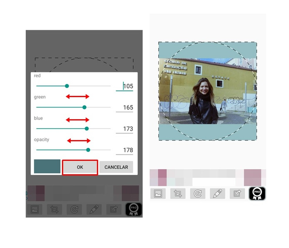 Se quiser, altere a cor do fundo da imagem de perfil do WhatsApp (Foto: Reprodução/ Taysa Coelho)