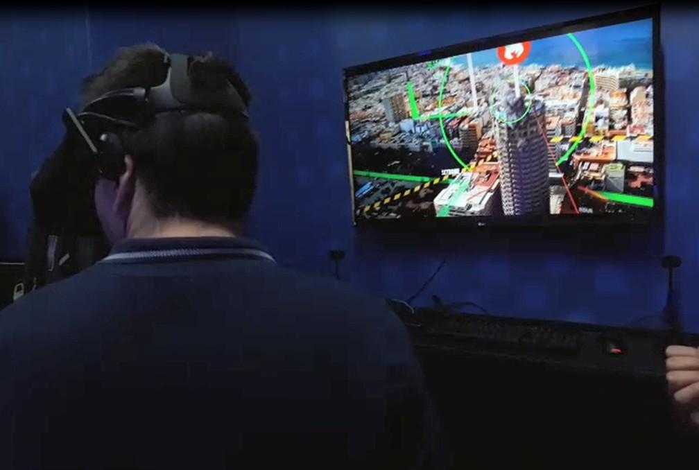 Realidade virtual integrada com serviços públicos é uma possibilidade de uso do 5G — Foto: Lana Torres