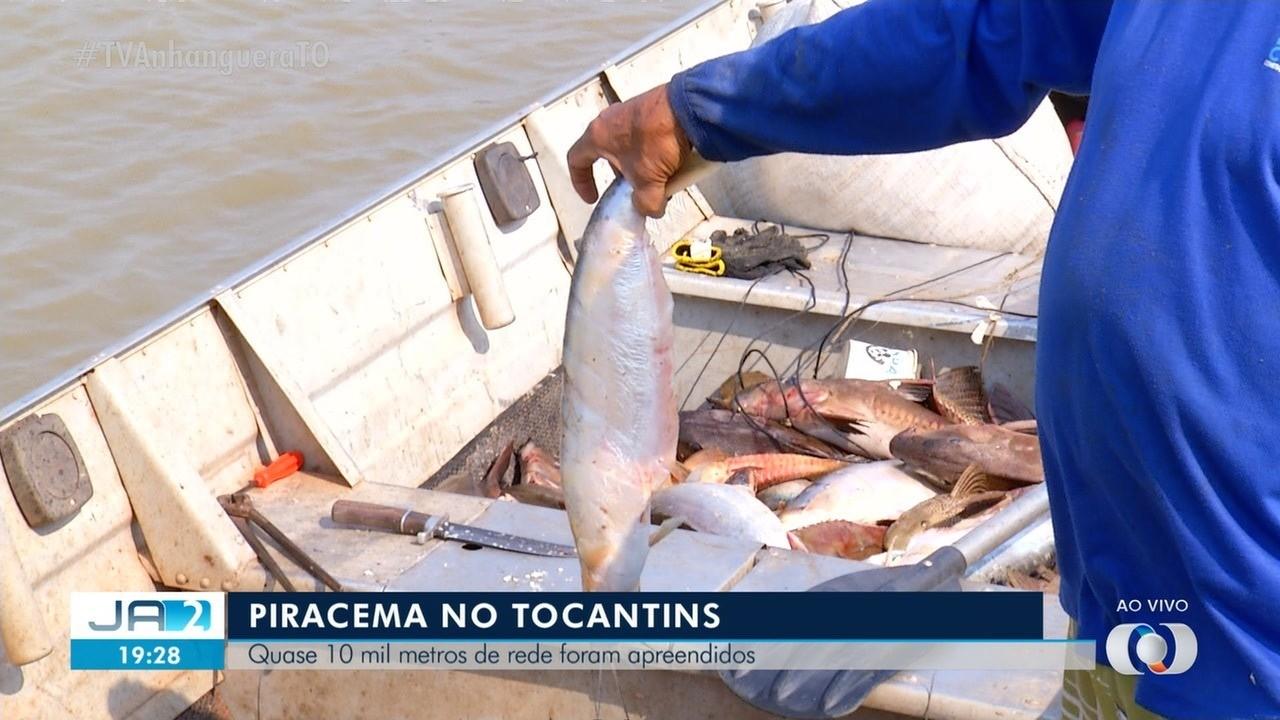 Quase 10 mil metros de rede são apreendidos durante a piracema no Tocantins