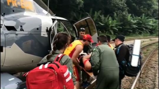 Mulher é resgatada no Pico do Marumbi, na Serra do Mar