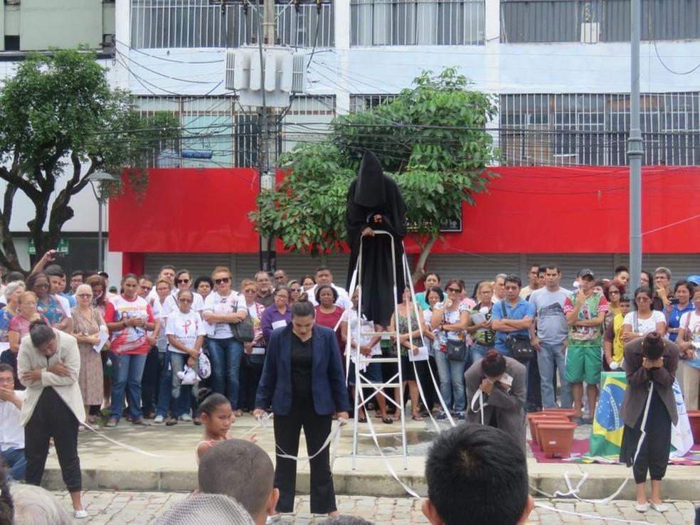 Apresentações falaram sobre o combate aos tipos de violência (Foto: Divulgação/Arquidiocese de Manaus)