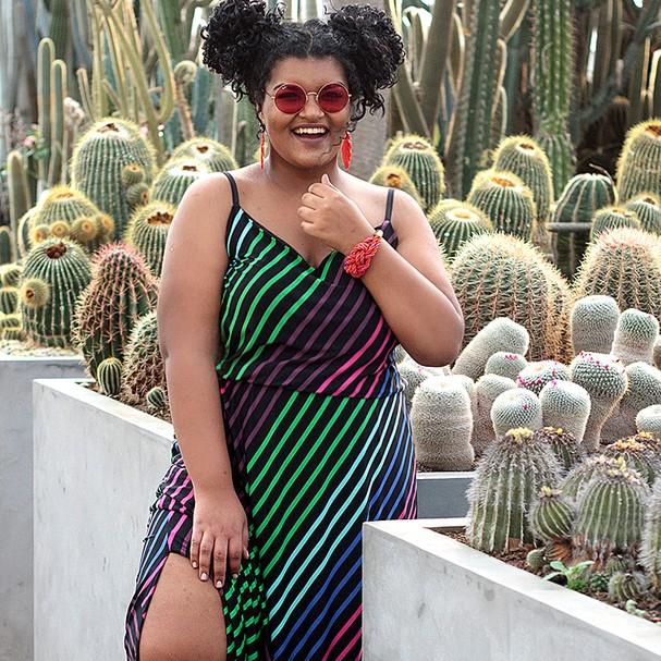 Ensaio da Chica Bolacha, loja que luta pelo fim dos padrões e vende em sua grade dos tamanhos 38 ao 64 (Foto: Divulgação)