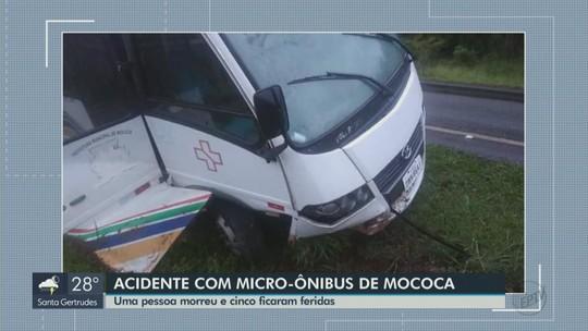 Acidente com ônibus que levava pacientes deixa uma pessoa morta e cinco feridas em Aguaí