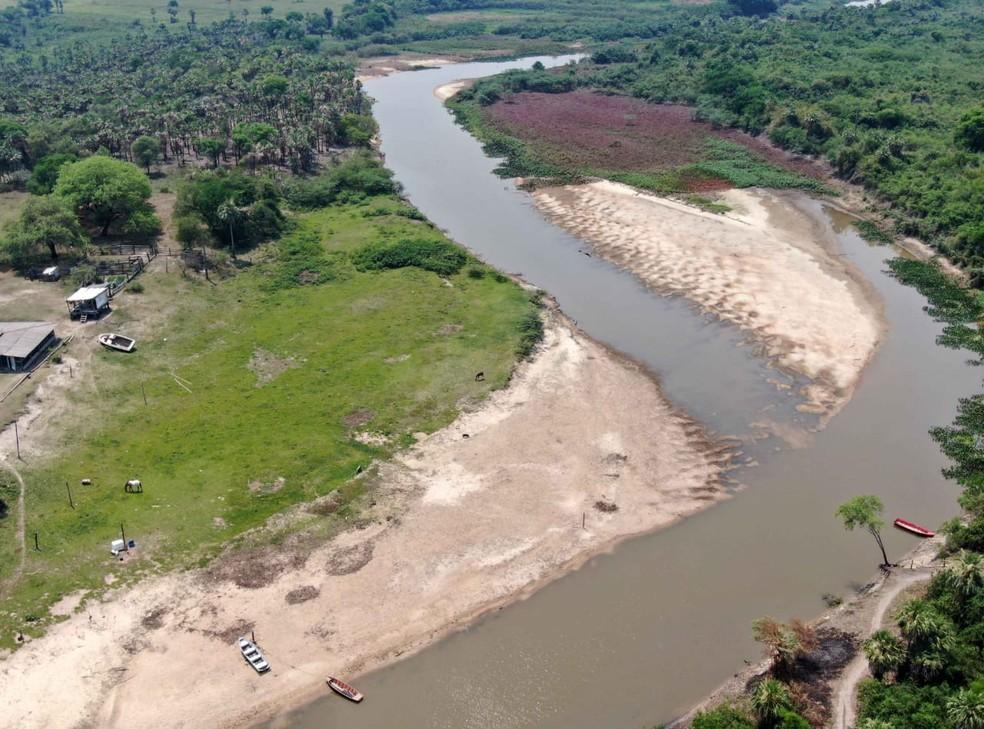 Nível do Rio Paraguai está abaixo do esperado — Foto: Toninho Ruiz/Arquivo Pessoal